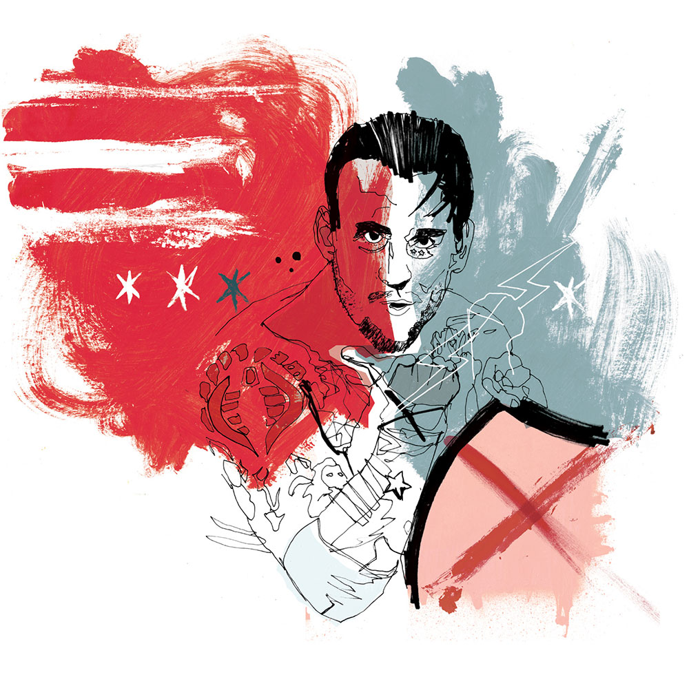 CM Punk wwe illustration, UFC artwork, art, design, graphic design, hand drawn portrait