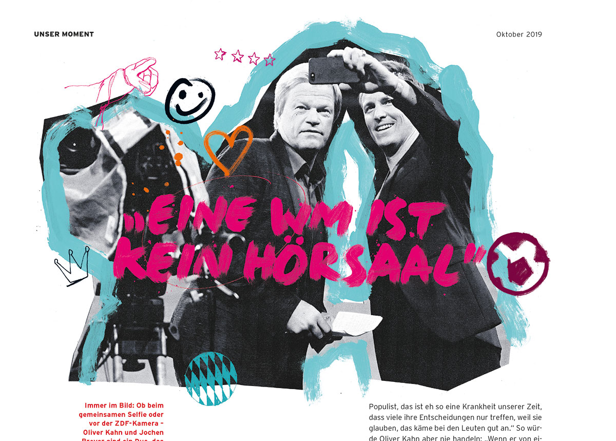 Bayern Munich 51 Magazine Oliver Kahn goalkeeper footballer bundesliga illustrations by Ben Tallon