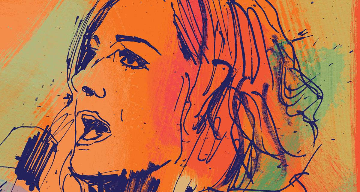 WWE The man Becky Lynch portrait illustration, women's revolution champion, hand drawn portrait illustration, artwork, hand drawn