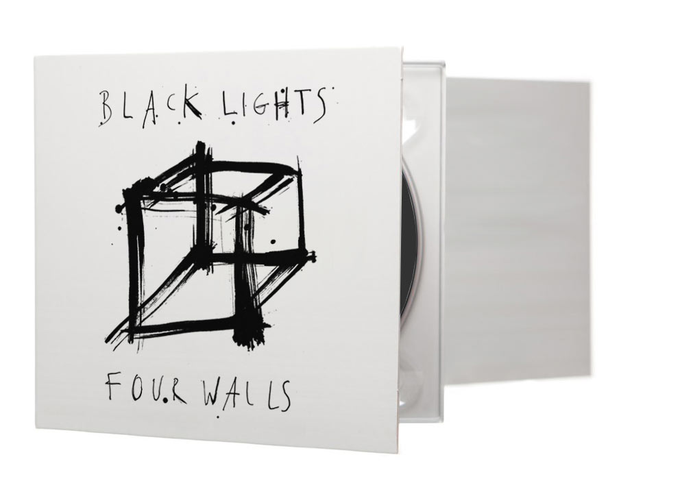 ink, drawing, art direction, black lights, four walls, packaging design, packaging artwork, illustration manchester band, cd cover, album cover, ep cover, sleeve, artist, london, uk illustrator, black lights four walls design, hand drawn, creative director