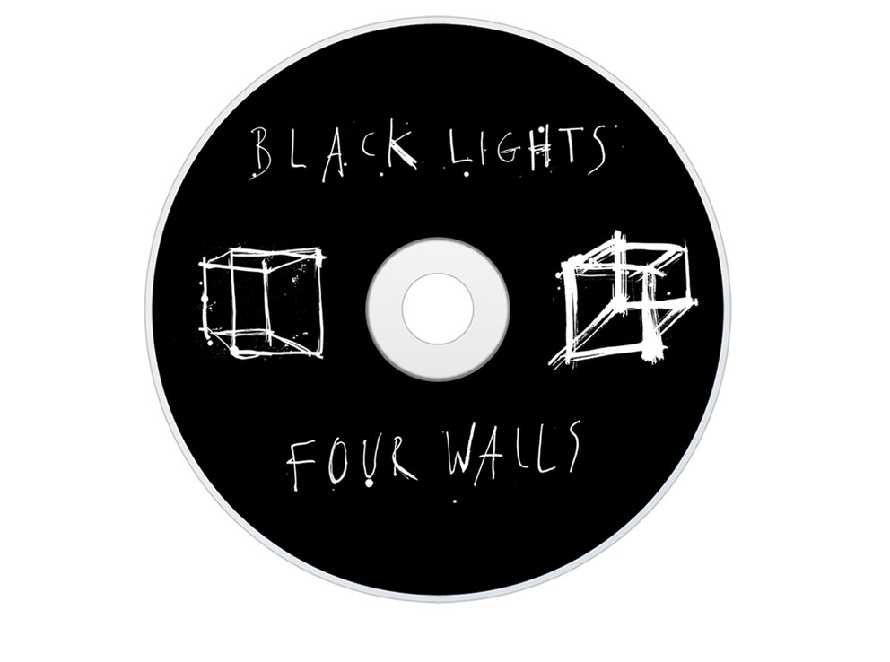ink, drawing, disc design, record art, disc artwork, art direction, black lights, four walls, packaging design, packaging artwork, illustration manchester band, hand drawn, creative director