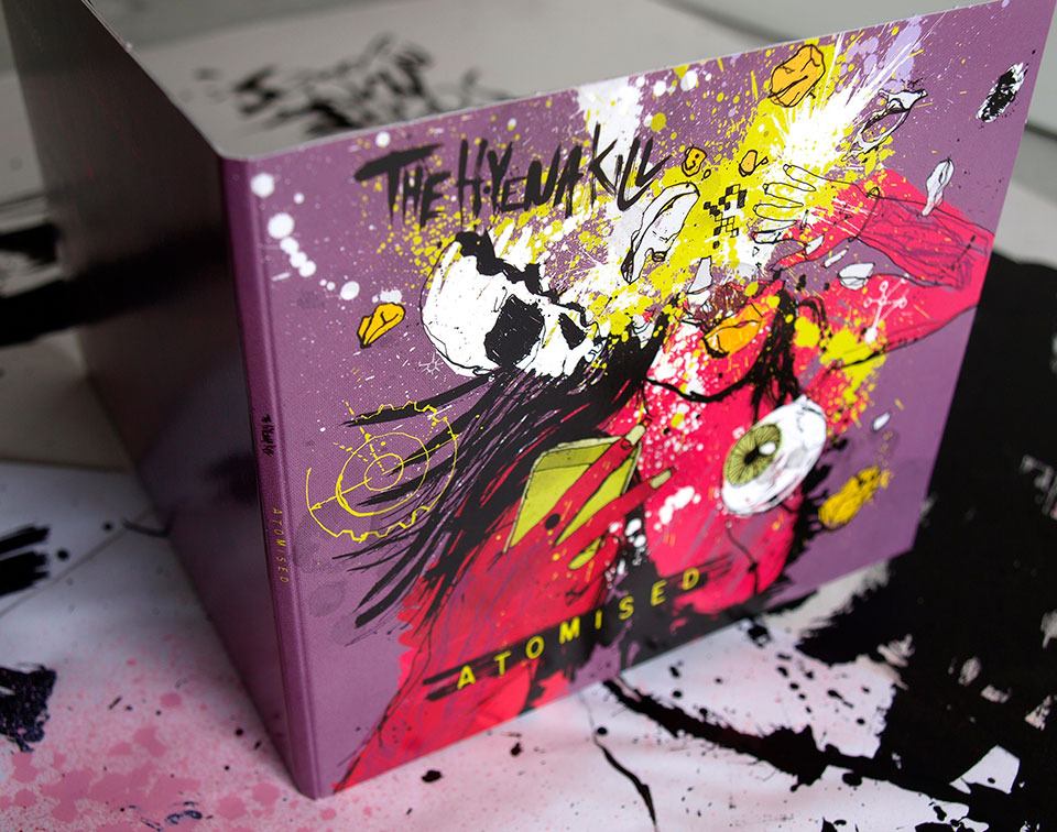 The Hyena Kill, debut album packaging artwork, illustration, design and art direction, detail shot