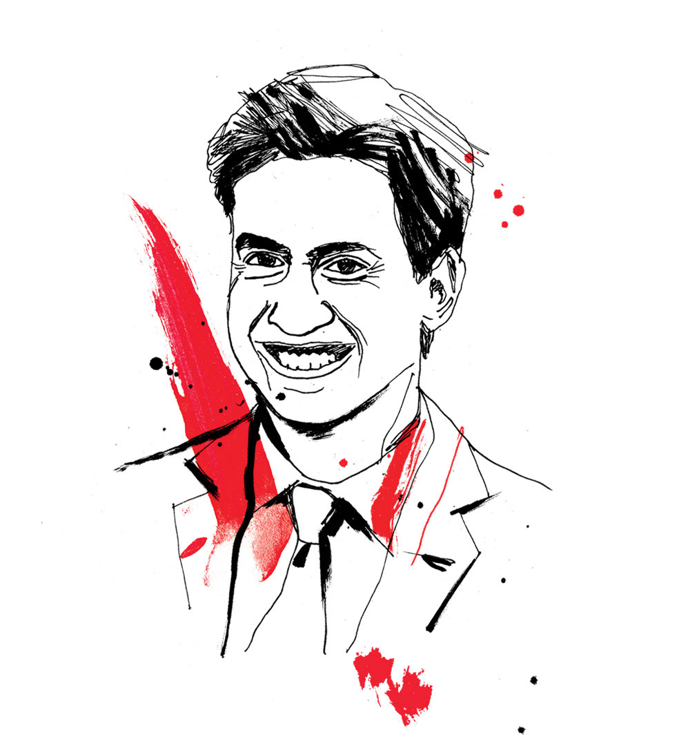 HR Magazine, general election, portrait illustration, conservatives, labour, green part, liberal democrats, SNP, artwork, line drawing illustrated, pen andink, brush type, Ed Milliband, painted lettering, Ben Tallon