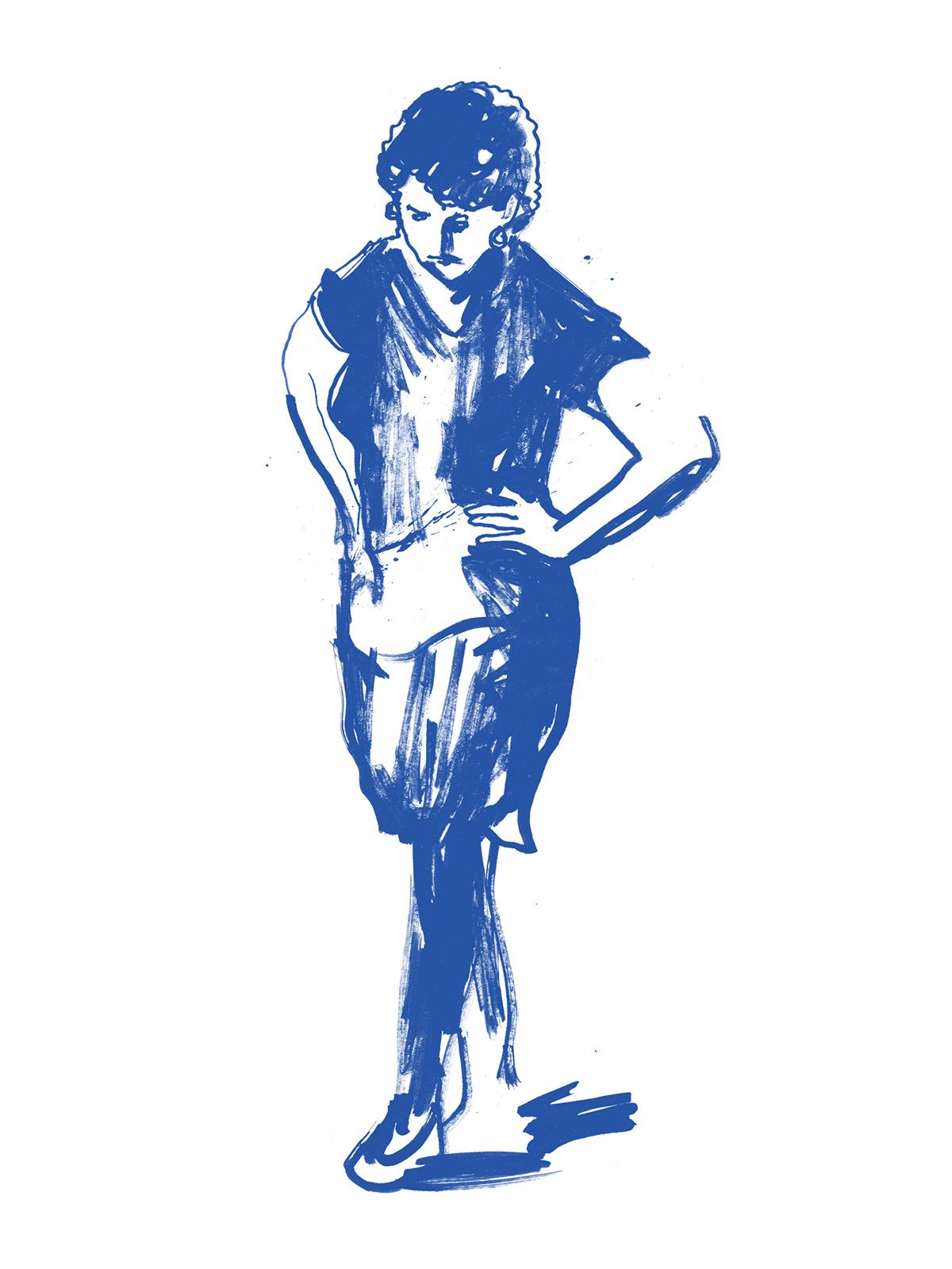 Ben Tallon magazine cover, hand drawn editorial, magazine, zine illustration by Ben Tallon illustrator