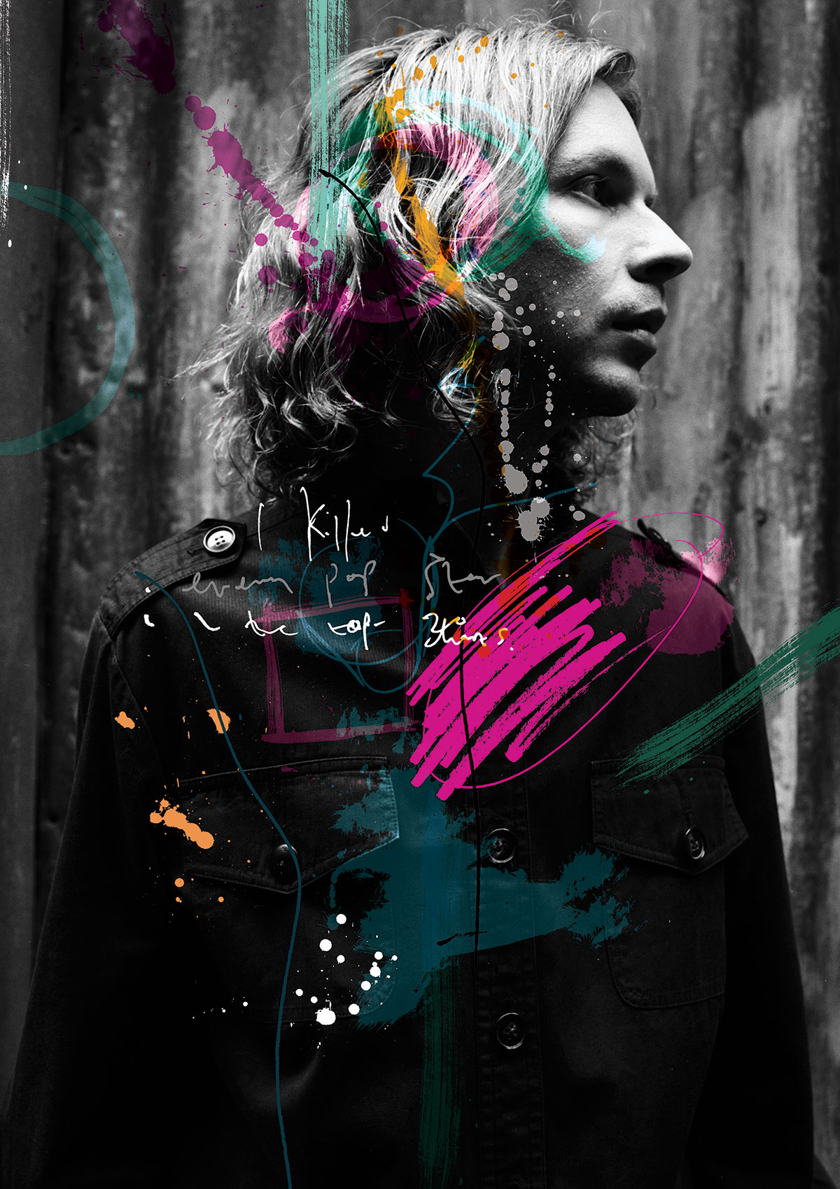 Lend Me Your Ear artwork, illustration, music photography, Andrew Cotterill Ben Tallon Beck