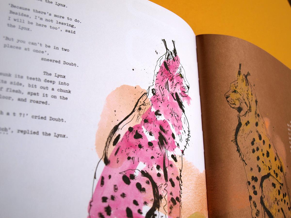 Havas Lynx advertising illustration, lynx cat artwork, illustrator Ben Tallon, book illustration narrative, publishing illustrator