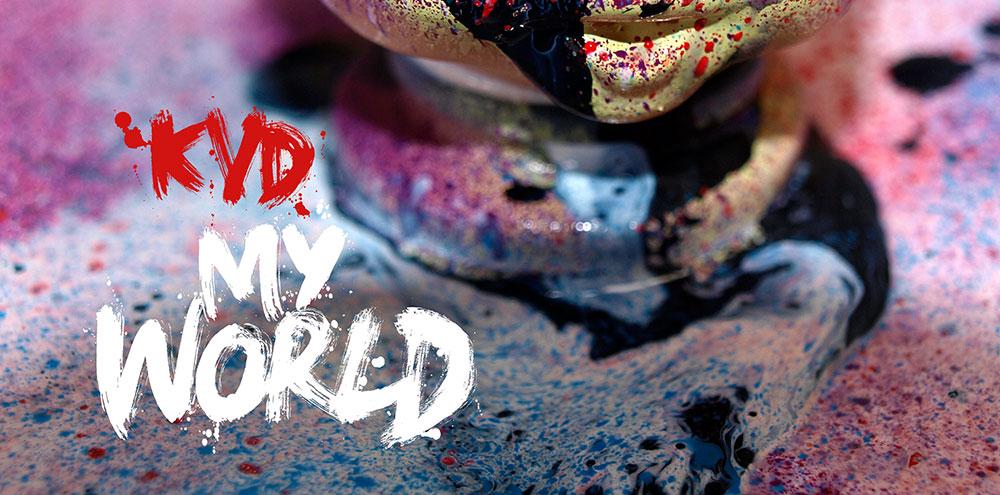 Album cover, single cover artwork, art direction, illustration and set design for dirty freud v kadanski electro dub music. Hand painted brush type cd sleeve, digital artwork