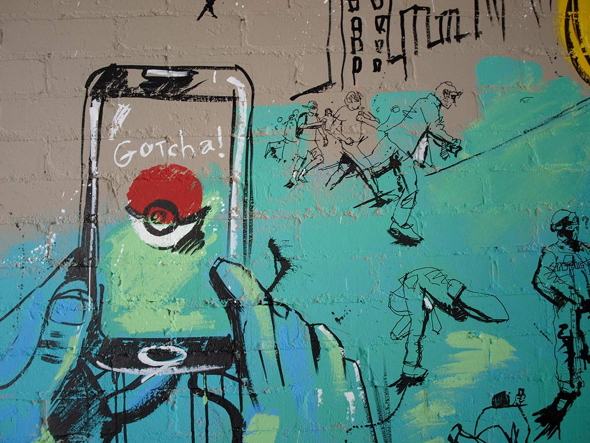 Pokemon Go artwork, live art, artist, illustration, mural, punk, Cardiff The Flora, Cathay's Terrace, ink drawing, wall art, street art, pokemon street art, pikachu drawing, charizard draw, design, video game art, nintendo, urban art, graffiti, pokemon graffiti