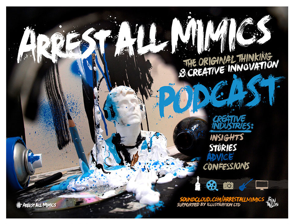 3d print artwork, artist, painting, drawing Ben Tallon Arrest All Mimics podcast branding