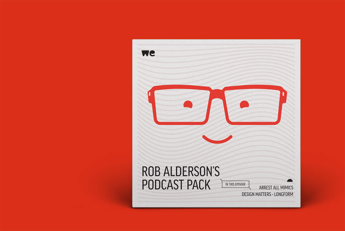 Wetransfer podcast pack, Rob Alderson, creative podcast, design podcast, illustration show, arts podcast, creative industry advice